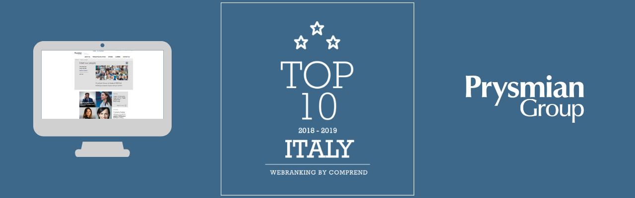 Webranking 2018: Grupa Prysmian ponownie w pierwszej dziesiątce