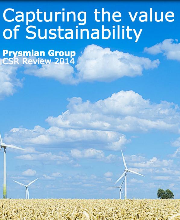 Sustainability report 2014 (minisite)
